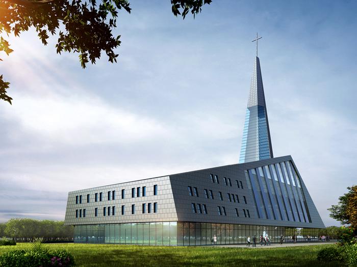 国内首座现代化环保教堂— 内蒙古环保教堂